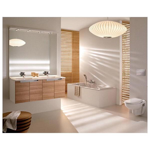 Meuble salle de bain struktura 120 cm porte ch ne fonc for Meuble salle de bain jacob delafon