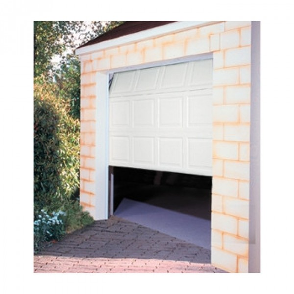Porte de garage sectionnelle motoris e 200x240 cm blanc for Porte de garage sectionnelle 220 x 200
