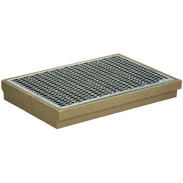 gratte pieds aco avec grille m tal 75x50 cm x haut 8 cm. Black Bedroom Furniture Sets. Home Design Ideas