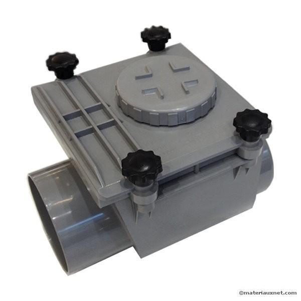 clapet anti retour pvc mf diam 100 mm 224 coller materiauxnet