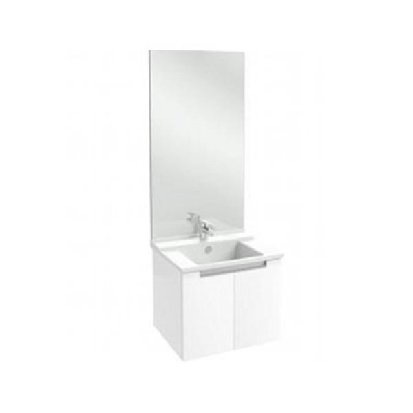 Meuble salle de bain struktura 60 cm portes blanc for Meuble jacob delafon
