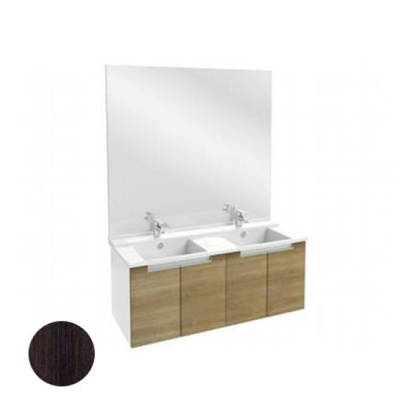 Meuble salle de bain struktura 120 cm porte ch ne fonc for Meuble jacob delafon