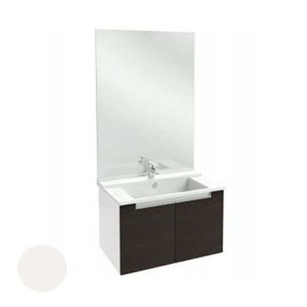 meuble salle de bain struktura 80 cm portes blanc. Black Bedroom Furniture Sets. Home Design Ideas
