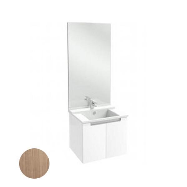 Meuble salle de bain 60 cm portes merisier romana for Meuble salle de bain jacob delafon