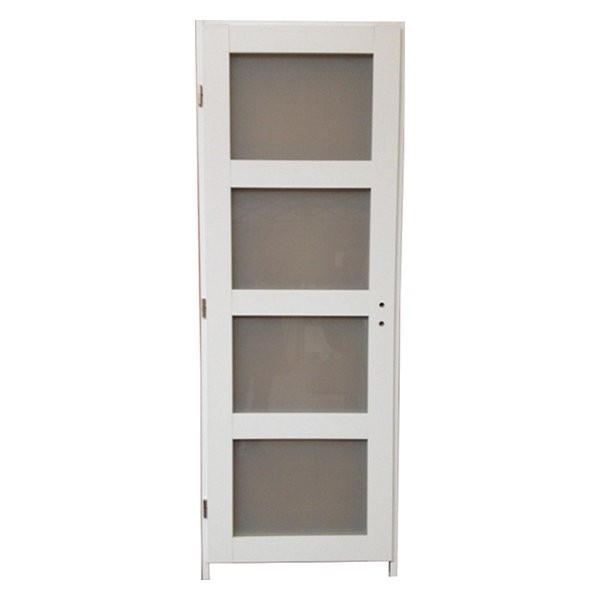 Bloc porte quartzo 4 crx blanc 204x83 cm droite for Porte 5 carreaux
