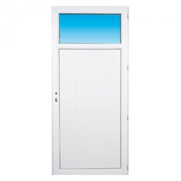 Porte De Service Pvc OCCULUS Gauche X Cm Materiauxnetcom - Porte service pvc