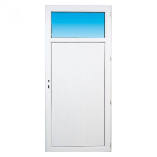 Porte de service pvc occulus gauche 205 x 90 cm for Porte de service pvc