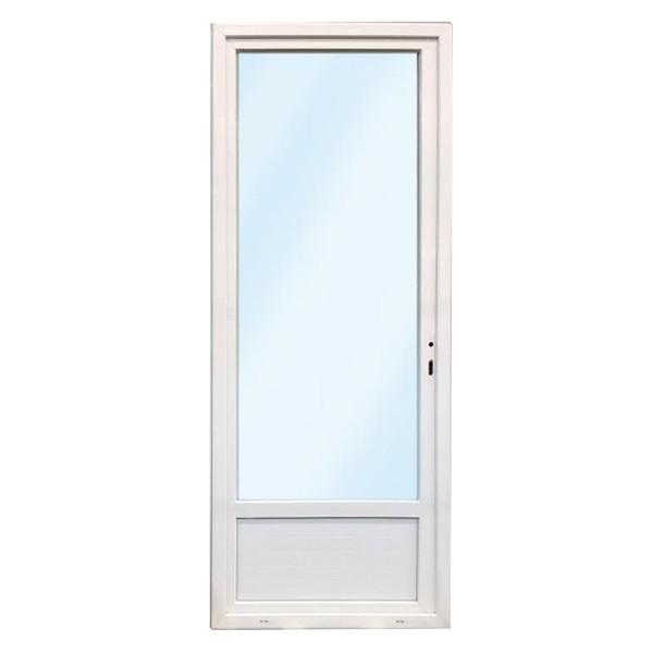 Porte fen tre pvc 1 vantail gauche 205x90 for Porte de service aluminium vitree