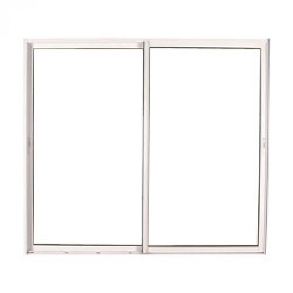 Baie vitr e coulissante en pvc blanc 215 x 300cm for Baie vitree pvc