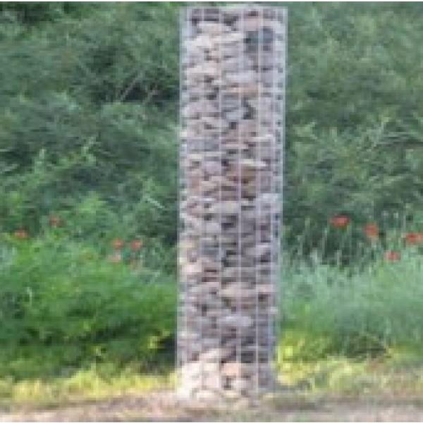 gabion cylindrique colonne hauteur 80 cm diam 42 cm. Black Bedroom Furniture Sets. Home Design Ideas