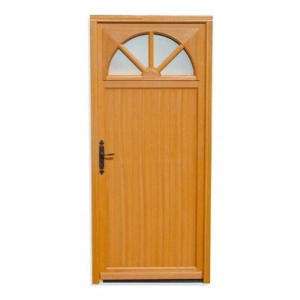 Porte de service bois exotique aude 200x90 cm droit for Porte service bois exotique