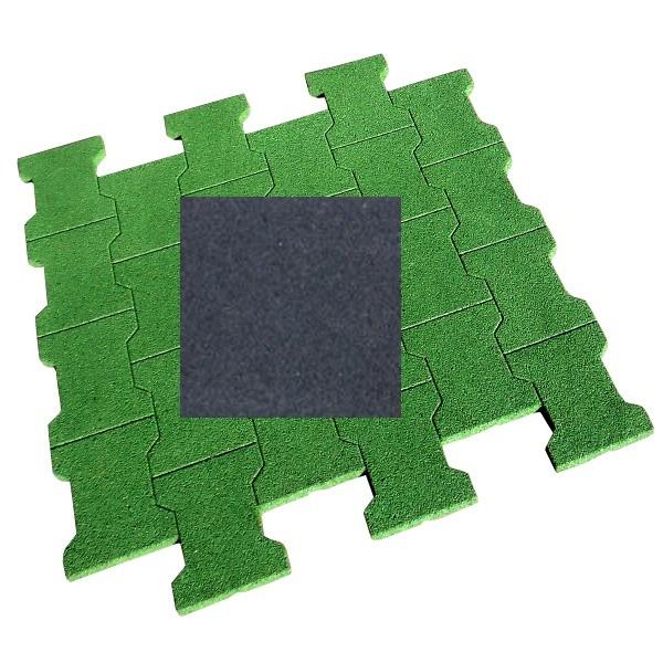 dalle pav caoutchouc 80x80x4 cm couleur noire. Black Bedroom Furniture Sets. Home Design Ideas