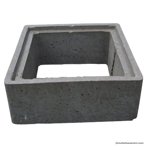 Rehausse b ton 50x50 hauteur 20 for Rehausse beton 50x50 castorama