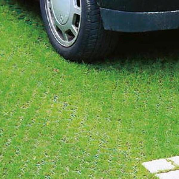 Dalles gazon recyfix green standard lot de 30 m2 for Caillou bleu pour allee