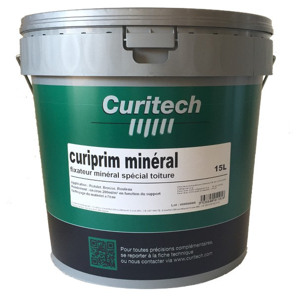 Fixateur peinture curiprim min ral curitech 15 l - Peinture beton mineral ...