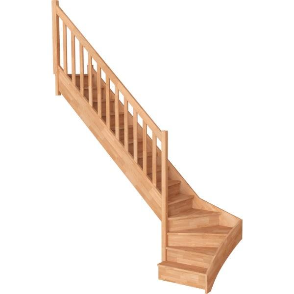 escalier quart tournant droit hetre