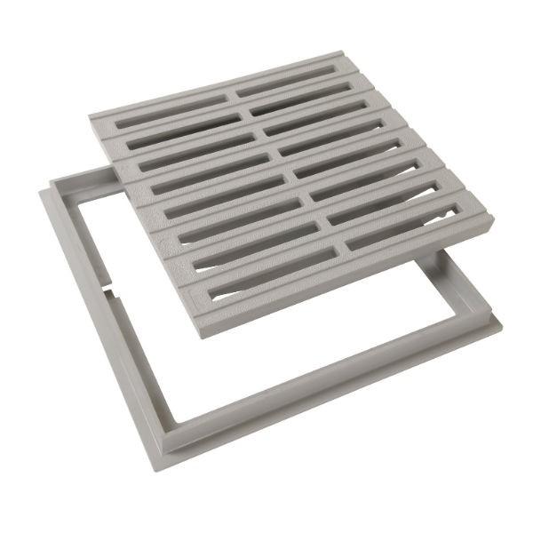 grille de sol cadre pvc nicoll grc30 gris clair. Black Bedroom Furniture Sets. Home Design Ideas