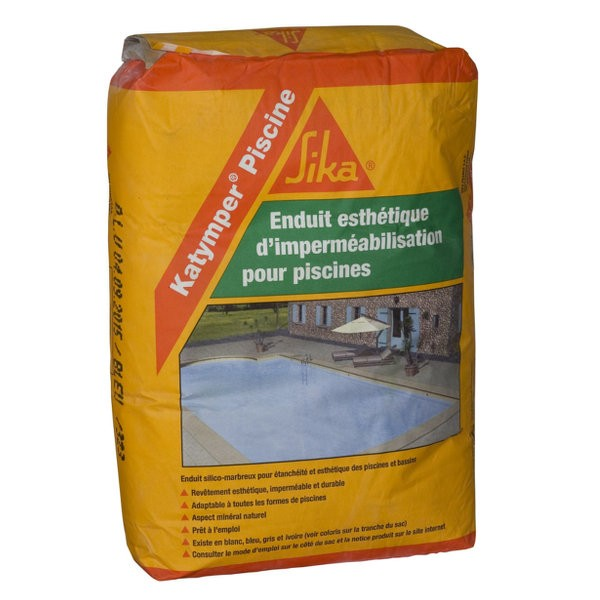 Mortier d 39 tanch it sika katymper piscine sacs 25kg for Sika enduit piscine