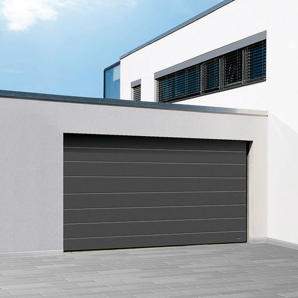 Porte garage sectionnelle satin novoferm iso 45 for Porte de garage sectionnelle 3 5 m