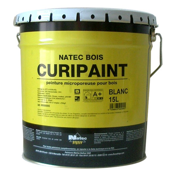 peinture pour bois curipaint natec 15 litres. Black Bedroom Furniture Sets. Home Design Ideas