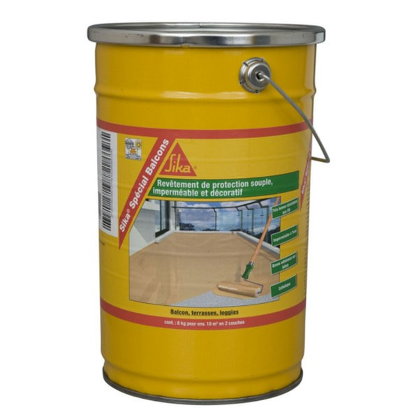 Rev tement imperm able sika sp cial balcon gris 6kg for Hydrofuge sika liquide