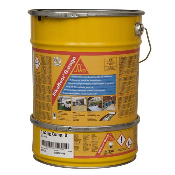 Peinture de sol sikafloor garage gris kit de 6kg for Garage a domicile 78
