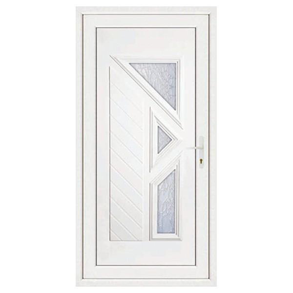 Porte d'entrée pvc LISA 3 carreaux poussant gauche, 200 x 80 cm