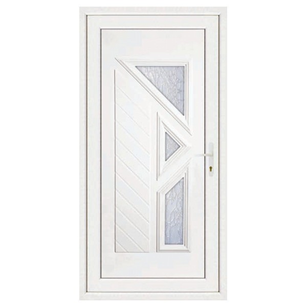 Porte d'entrée pvc LISA 3 carreaux poussant gauche, 215 x 80 cm