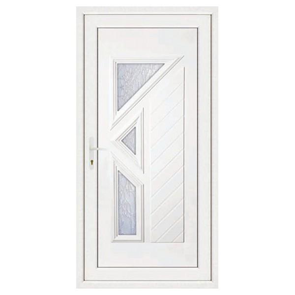 Porte d'entrée pvc LISA 3 carreaux poussant droit, 200 x 90 cm