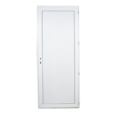 Porte de service en PVC panneau plein gauche, 205 x 90 cm