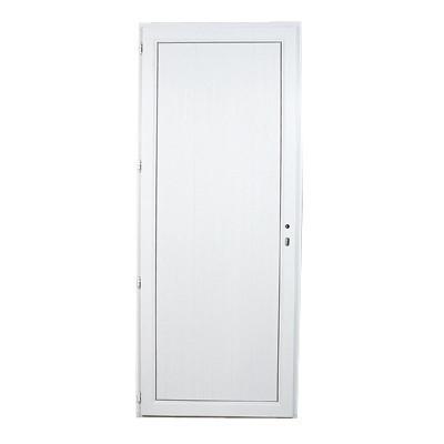 Porte de service en PVC panneau plein droit, 215 x 90 cm