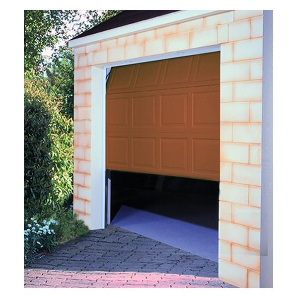 Porte de garage sectionnelle motorisée H 200 Larg 240 cm Chene