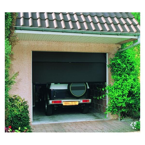Porte de garage sectionnelle motorisée H 200 Larg 300 cm Gris