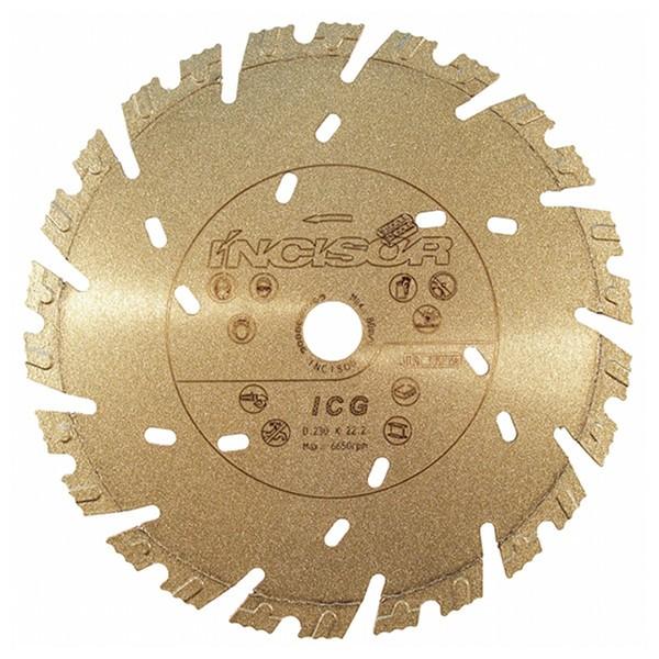 Disque diamant béton Incisor Gold Carbodiam, diamètre 230 mm
