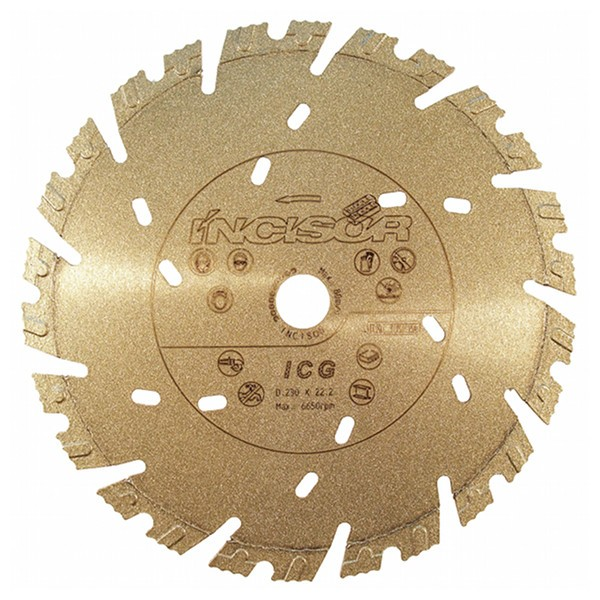 Disque diamant béton Incisor Gold Carbodiam, diam.350mm/alésage 25,4mm