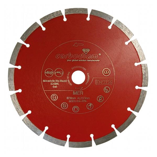 Disque diamant béton Météor Carbodiam, diamètre 125 mm