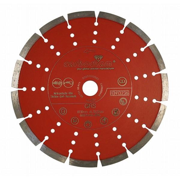 Disque diamant Granitor Silencio Carbodiam, diamètre 230 mm