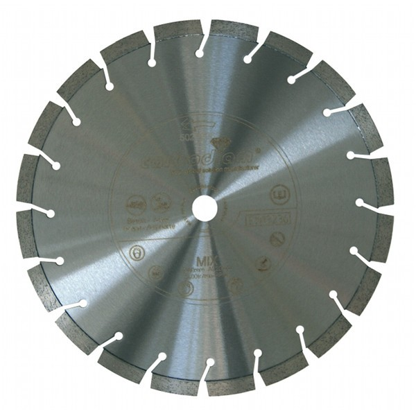 Disque diamant Mixtor Carbodiam, diam 350 mm/alésage 25,4+T mm