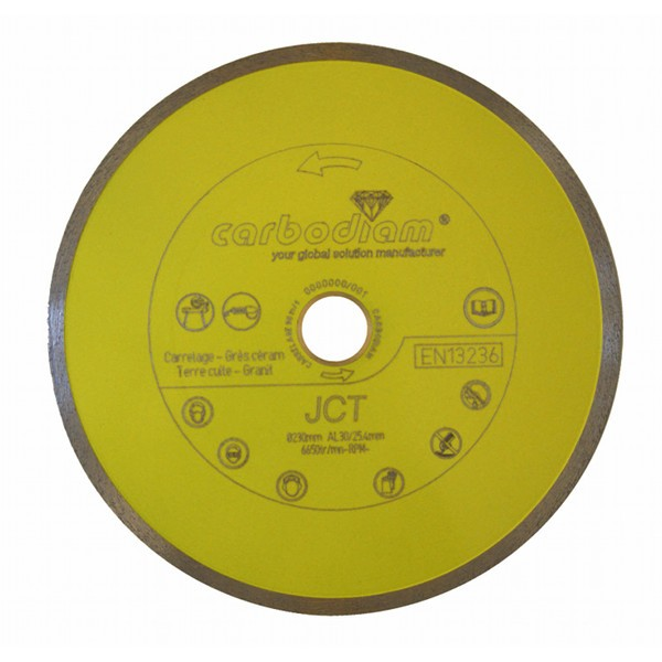 Disque diamant carrelage JCT Carbodiam, diam 125 mm