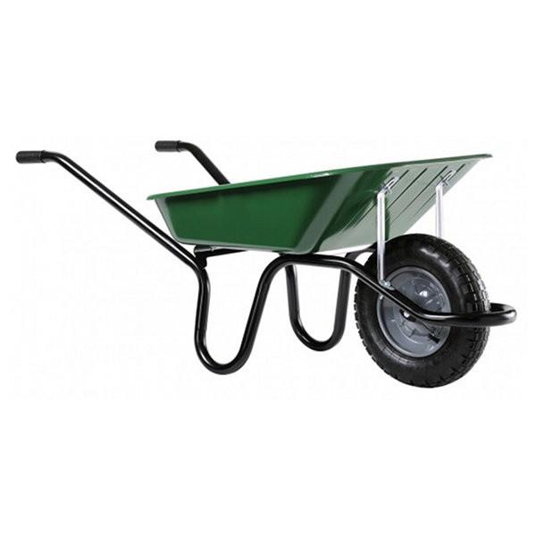 Brouette Haemmerlin Aktiv Premium roue gonflée, peinte en vert