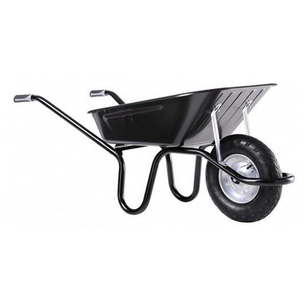 Brouette Haemmerlin Aktiv Excellium 100 roue gonflée, peinte en noir