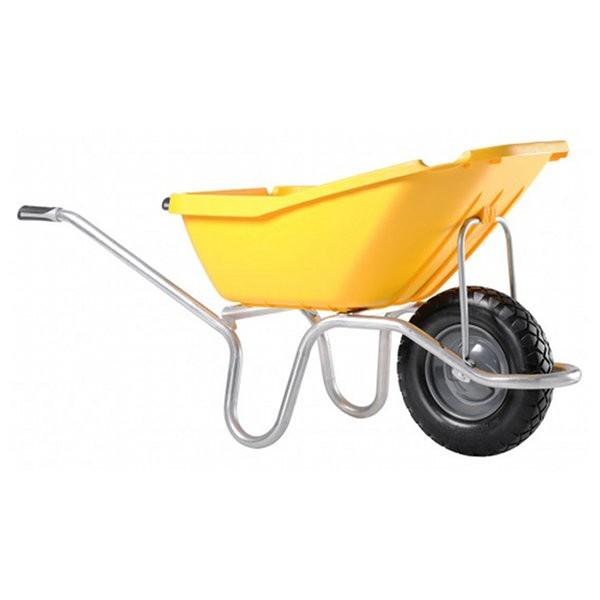 Brouette Haemmerlin Plume 110 roue increvable, jaune