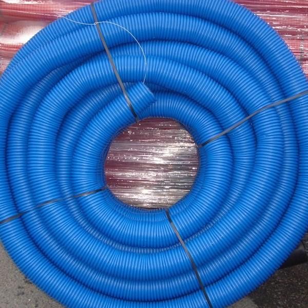 Gaine TPC bleue Ø 63 mm en couronne de 50 ML, la couronne