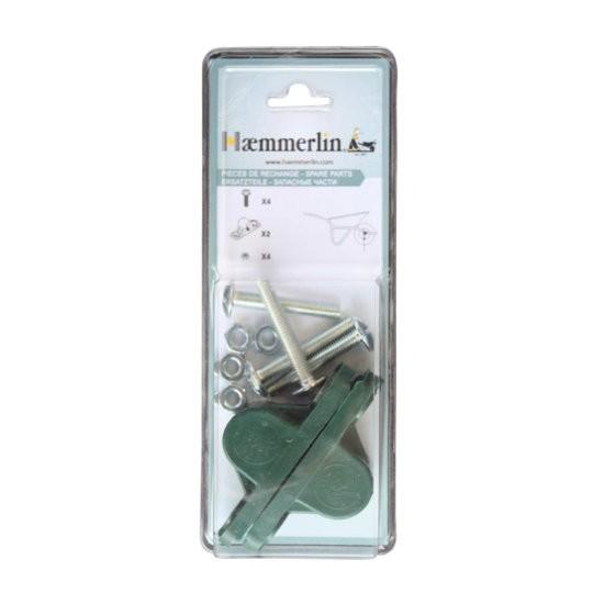 Paire de coussinets polyamide pour brouette Haemmerlin, diamètre 21 mm