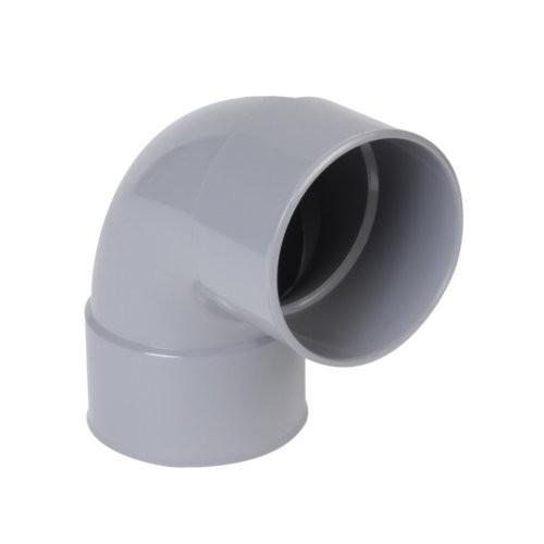 Coude PVC batiment 1/4 femelle/femelle DN 125