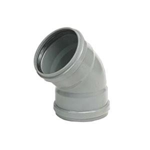 Coude PVC assainissement à joints 1/8 femelle/femelle DN 125