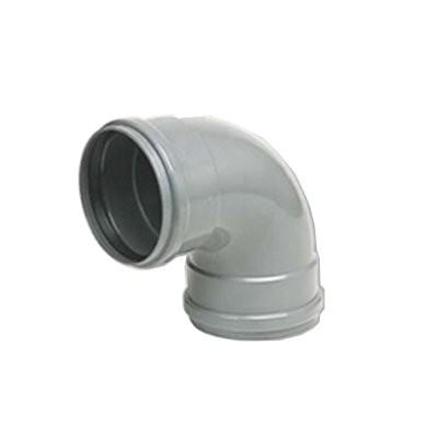 Coude PVC assainissement à joints 1/4 femelle/femelle DN 200