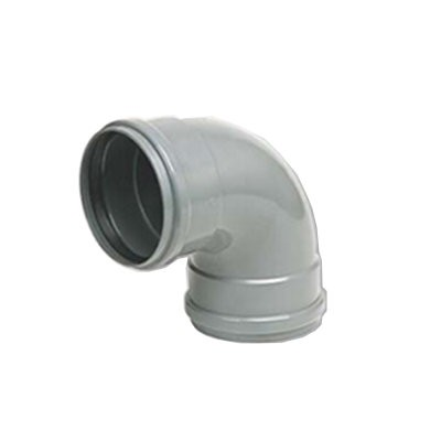 Coude PVC assainissement à joints 1/4 femelle/femelle DN 125