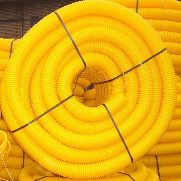 Gaine TPC jaune Ø 40 mm en couronne de 50 ML, la couronne