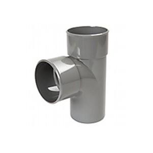 Embranchement PVC Batiment 90° T male/femelle DN 80/80, l'unité